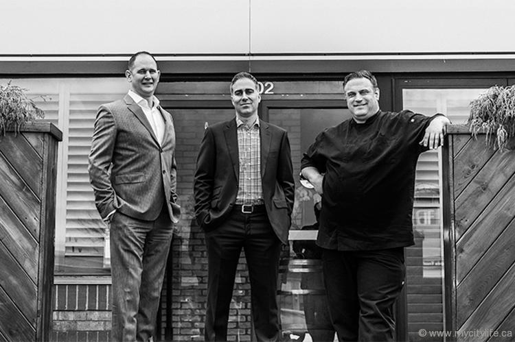 Substance Food Group's Ian Chase, Michael De Tommaso and Stephen Perrin, proprietors of successful Ontario restaurants Terra, Sarpa, Rusty's at Blue and Francobollo Posto Italiano