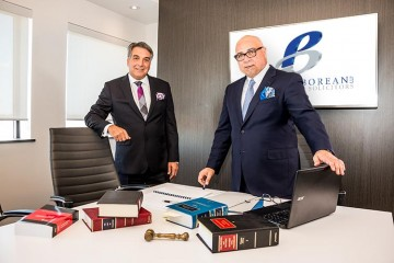 """Offering dynamic legal services in the areas of real estate and development, litigation, family law and more, Gerard """"Gerry"""" Borean (left) and Don Parente (right) have served Vaughan and its surrounding communities for 25 years"""