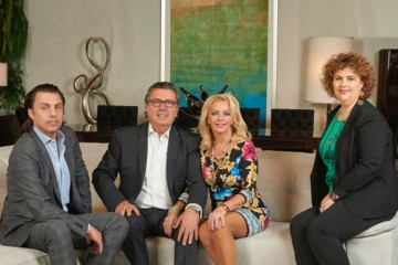 Martin, Angelo, Ginette and Valerie Simone lead affluent Toronto furniture company Martin Daniel Interiors, where exclusive European designs are made accessible to Toronto's market